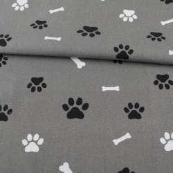 Деко-котон сірий, лапки, кісточки, ш.150