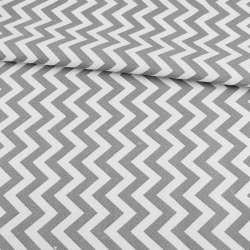 Деко-котон в біло-сірі зигзаги ш.150