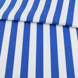 Деко-котон в біло-синю широкую смугу ш.150