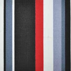 Ткань мебельная в красно-черную и серо-белую полоску ш.150