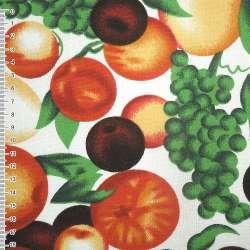 Тканина меблева біла з фруктами ш.150