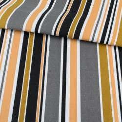 Ткань мебельная бежево-коричневые и белые полоски ш.150