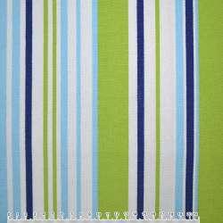 Ткань мебельная салатово-голубые, сине-белые полоски ш.150