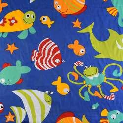 Деко-котон синій акваріум, ш.150