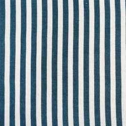 Деко-льон молочний в синю смужку 10мм, ш.150