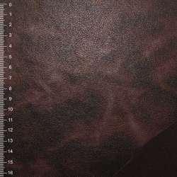 Замша искусственная на флисе коричневая темная