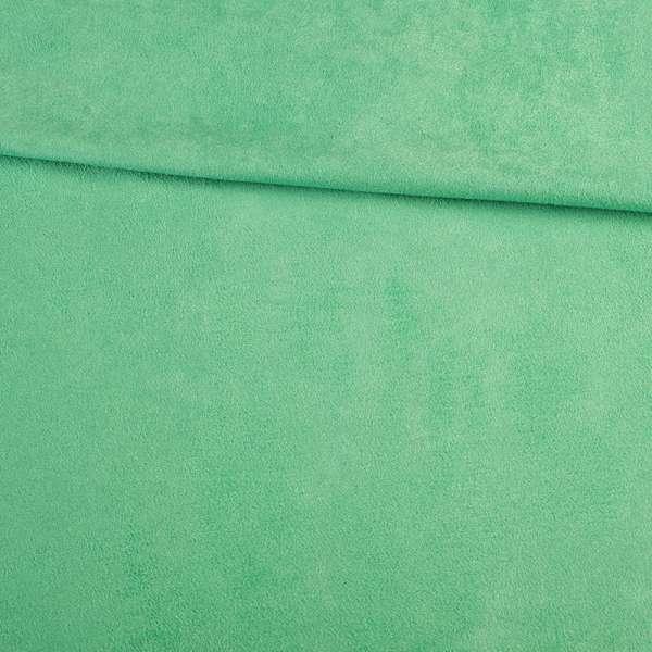 Замша стрейч зеленая светлая, ш.150