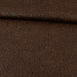 шкіра на флісі коричнева