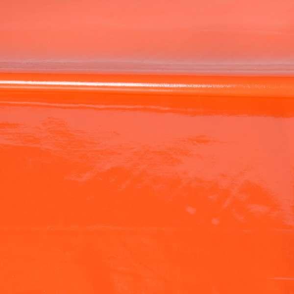 кожа лаке мягкая тонкая оранжевая, ш.140