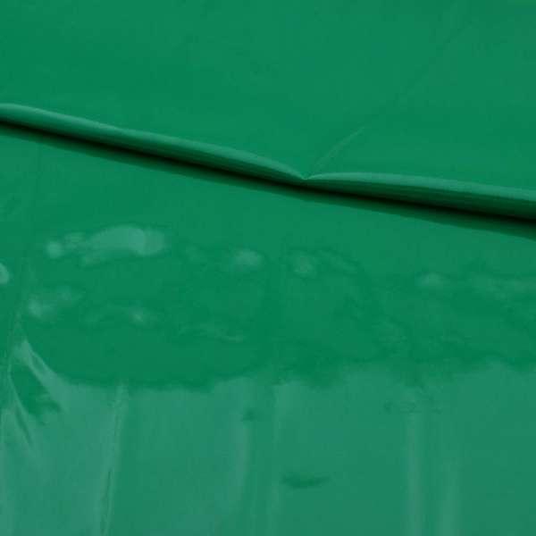 кожа лаке мягкая тонкая зеленая, ш.140