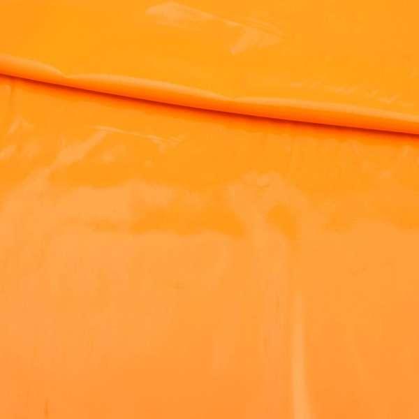 Шкіра лаке м'яка тонка жовто-оранжева, ш.140