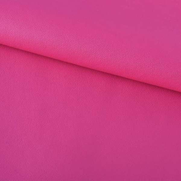 кожа искуст. на флисе розово-малиновая ш.140