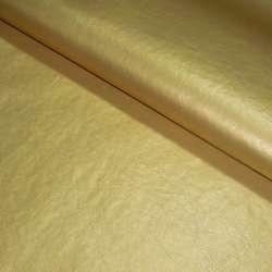 кожа искусств. золотистая на флисе ш.140