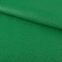 Кожа искусственная на флисе блестящая зеленая ш.144