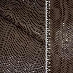 кожа искусствен. коричневая с каплями на флисе ш.140