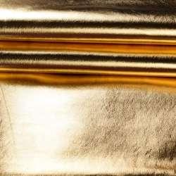 Кожа искусственная золотистая блестящая, ш.140