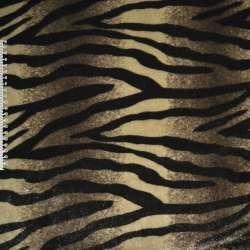 хутро в коричнево-бежевий. смуги з чорною абстракції. ш.160