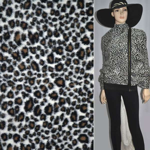 мех белый под черного леопарда ср/ворсовый шир.