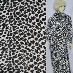 """Хутро штучне молочне з коричнево-чорним """"леопард"""" ш.170"""