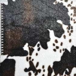 """Хутро штучне середньоворсове біле з темно-коричневим """"корова"""" ш.170"""