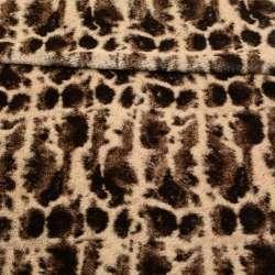 Хутро штучне світло-бежеве з коричневими плямами ш.160