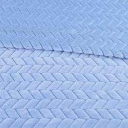 Хутро штучне косичка з прорізами блакитне ш.165