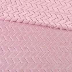 Хутро штучне косичка з прорізами рожеве ш.170