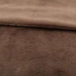 Мех кролик коричневый светлый ш.165