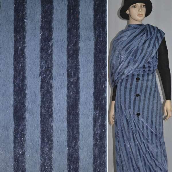 мех иск. фиолетовый пол. с блестками, ш.150
