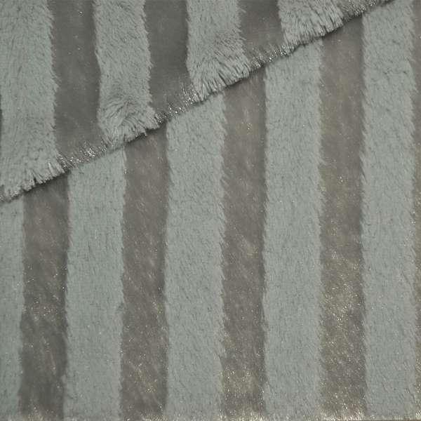 мех иск. светло-серый пол. с блестками, ш.150