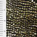 мех черный с золотыми штамп. каплями ш.150