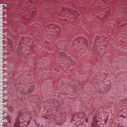 """Мех искусственный коротковорсовый ярко-розовый """"Sleepy time"""" ш.160"""