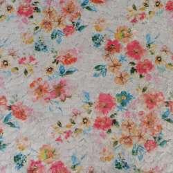Хутро штучне стрижене сіре в квіти, ш.146