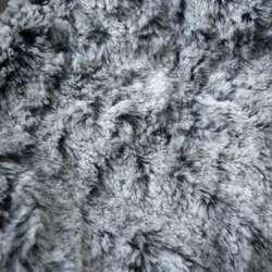 Мех искусственный молочный на черной основе (жатый) ш.160