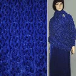 Мех искусственный сине-черный блестящий, ш.150