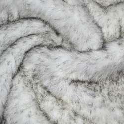 Хутро штучне довговорсове біле з чорними ворсинками, ш.150