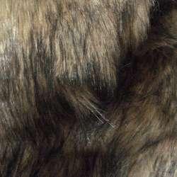 Хутро штучне довговорсове бежево-сіре з чорним, ш.150