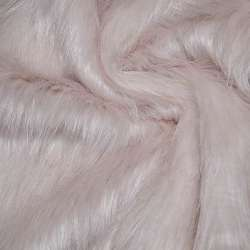 Хутро штучне довговорсове блідо-рожеве ш.170