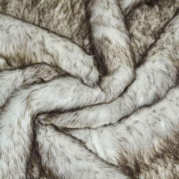 хутро білий з коричневим ворсом (пор. / ворсний) ш.170