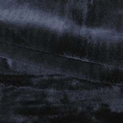 Мех искусственный средневорсовый черный (мутон) ш.180