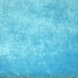Мех искусственный голубой ш.164