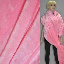 Хутро штучне коротковорсове рожеве ш.160