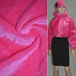 Мех искусственный коротковорсовый ярко-розовый ш.160
