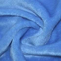 Хутро штучне блакитне коротковорсове ш.160