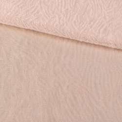 Мех искусственный мутон с тиснением молочно-персиковый, ш.160