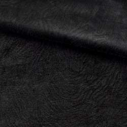 Хутро штучне мутон з тисненням чорне, ш.160