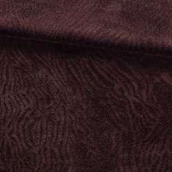 Мех искусственный мутон с тиснением коричневый темный, ш.160