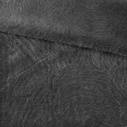 Хутро штучне мутон з тисненням сіре темне, ш.160