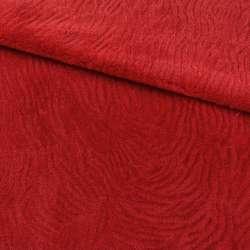 Хутро штучне мутон з тисненням червоне, ш.160