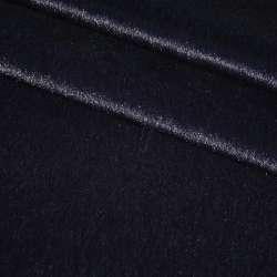 Мех искусственный коротковорсовый темно-синий ш150